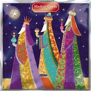 E Christmas Cards Macmillan - Medici Charity Christmas Cards - Three Kings (5361) - Cards Sold In Aid Of Marie Curie Cancer Care, Parkinsons, Oxfam, CLIC Sargent, Macmillan Cancer Support and RNLI by GBCC