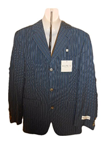 Jack Victor Males's Go well with Blazer, Navy Stripe, 40L