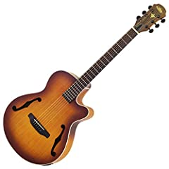 "Electric acoustic guitar which adopted F hole. Wood binding is applied to the body, and matte finish of open pore using grain of grain is adopted. Equipped with 4 band equalizer and preamp ""AEQ - 4"" with tuner function. Specifications Top: Fl..."