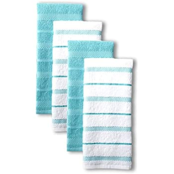 KitchenAid Asteroid Kitchen Towel Set, Set of 4, Aqua