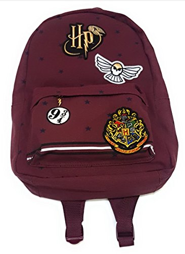 Ladies Girls HARRY POTTER Hogwarts Crest Hedwig 9 3/4 Golden Snitch Unisex Rucksack Backpack Sold by Bend The Trend2