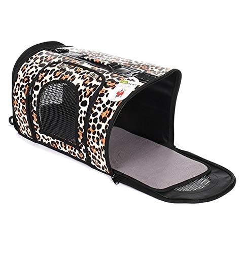 Simply Savvy Co USA Cute Leopard Cheetah Animal Print Pet Dog Cat Carrier