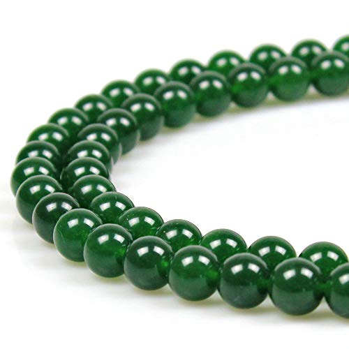 JARTC Natural Taiwan Jade Round Loose Beads for Jewelry Making DIY Bracelet Necklace (12mm)
