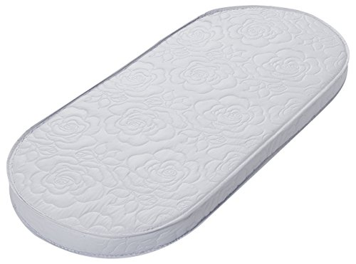 """Big Oshi Waterproof Oval Baby Bassinet Mattress - Waterproof Exterior - Thick, Soft, Breathable Foam Interior - Comfy, Padded Design, Also Fits Portable Bassinets - 13"""" x 29"""" x 2"""""""
