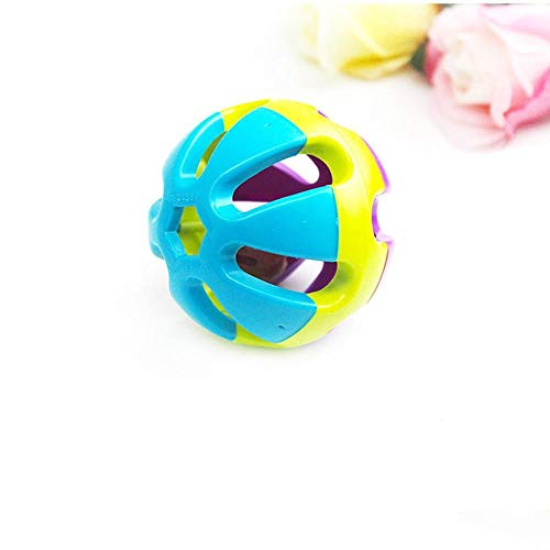 Colorful Plastic Dog Toys Ring Balls Hamster Chewing Fetch