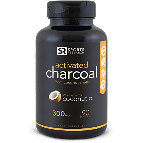 Premium Activated Charcoal infused with Organic Coconut Oil ~ 90 Mess-free liquid...