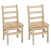 ECR4Kids 3-Rung Ladderback Assembled Chair