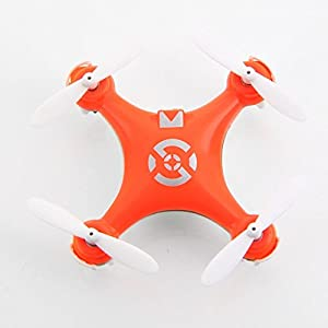 Leoie Cheerson CX-10 Mini 29mm Diameter 4CH 2.4GHz 6 Axis Gyro RC Quadcopter UFO RTF (Orange) 41W2n7Jd54L