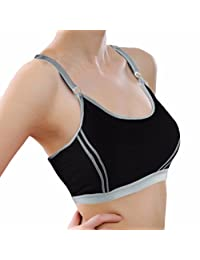 changeshopping Women Lady Sports Yoga Athletic Solid Wrap Chest Strap Vest Tops Bra