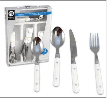 Gibson Steel Stainless Spoon (Casual Living Stainless Steel Flatware Set - 24 Piece (Service for 6))