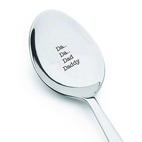 DA.. DA.. Dad Daddy - Best Dad Ever Spoon - Coffee or tea spoon - Dad Birthday gift - Best Selling Item - Fathers Day Gift - Star Wars Gift - Customized spoon - Fathers day Gift for him#SP_029