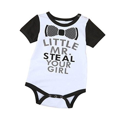Sharemen Cute Rompers Baby Letters Jumpsuit Outfit Clothes (White, 12-18 - Shop Outfit Clothes