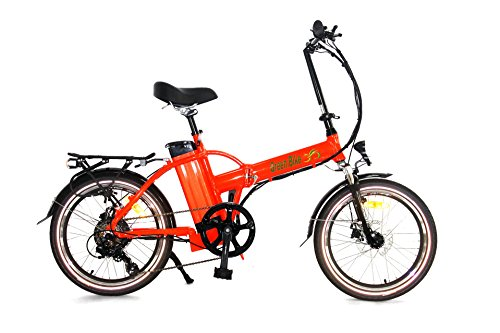 Greenbike USA GB5 500 Electric Motor Power Bicycle Lithium Battery Folding Bike – FULL SUSPENSION RED (RED) Review