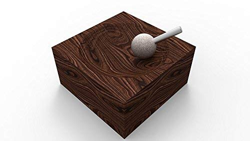 Kutzall Original Sphere Burr, 1/4'' Shaft (6.3mm) - Fine, Tungsten Carbide Coating: 1'' (25.4mm) Head Diameter x Head Length 1'' (25.4mm) - S-1G