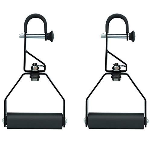 Yes4All Rotating Pull Up Handles - Great for Chin Up with Non-Slip & Foam Pad Grips - Twist Motion Pull Up/Pull Up Bar Handles (Black, Pair)