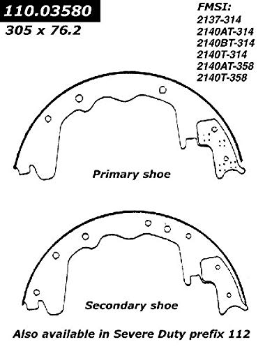 Parts Panther OE Replacement for 1975-1980 Plymouth PB300 Rear Drum Brake Shoe (Drum Pb300 Brake Plymouth)