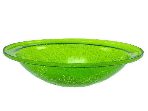 Achla CGB 05FG Crackle Glass Birdbath