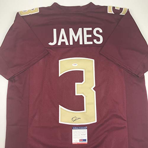 Autographed/Signed Derwin James Florida State FSU Maroon College Football Jersey PSA/DNA COA