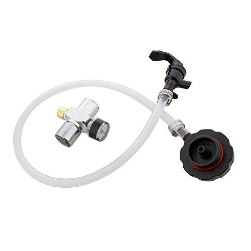 Mini Keg Dispenser Kit - CO2 Regulator for Draft Beer Keg w/ 2 Ft Hose and Spout for Beverage Dispenser Keg Tapping Kit ()