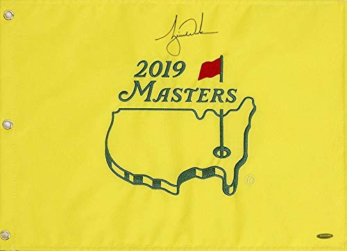 Tiger Woods Autographed 20149 Masters Pin Flag **PRE-ORDER - SHIP 6/10/19***