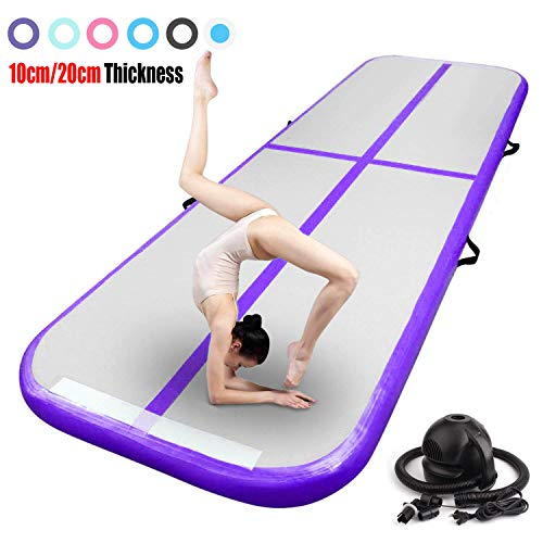 FBSPORT 9.84ft Inflatable Gymnastics Air Track Tumbling Mat Airtrack Mats for Home Use/Training/Cheerleading/Yoga/Water with Pump