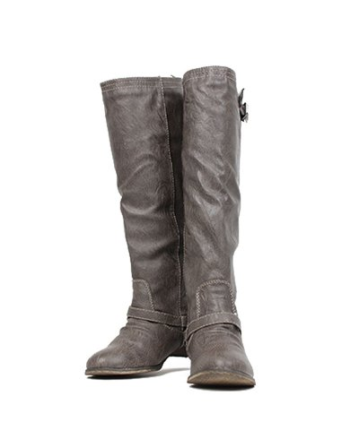 Breckelles Womens Outlaw-81 Gambaletto Alto Taupe-81