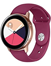 Silicon Sport Band For Samsung Galaxy Watch Active 2 Active 1, Solid Color Silicone Wrist Strap Watchband