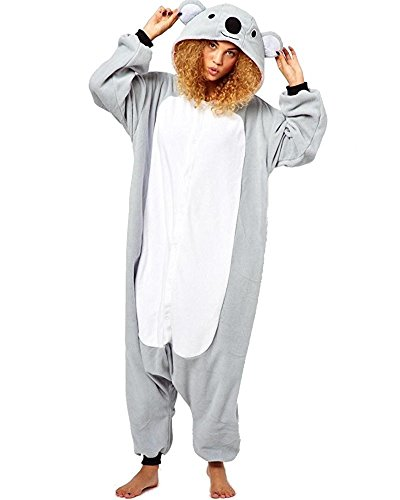 Waffle Costume Pattern (Adult Animal Kigurumi Unicorn Cosplay Costume Pajamas Koala M (160-170CM))