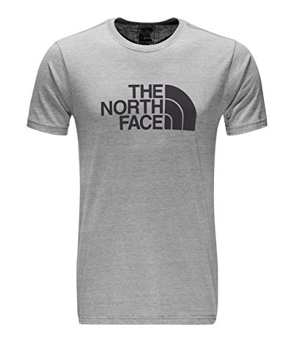 The North Face Men's Short-Sleeve Half Dome Tri-Blend Tee - TNF Light Grey Heather and Weathered Black - L (The North Face Screen Print Shorts)
