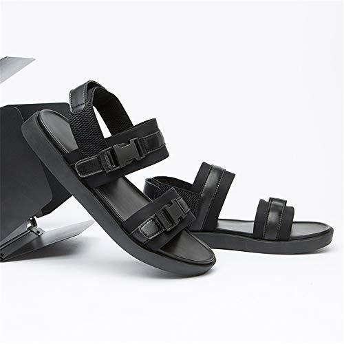 1 39 Negro Color para tamaño para Libre Sandal De Aire Playa Negro EU Transpirables Negras Hombre Wangcui Zapatillas 3 Al Sandalias Deportes F1q4xUxT
