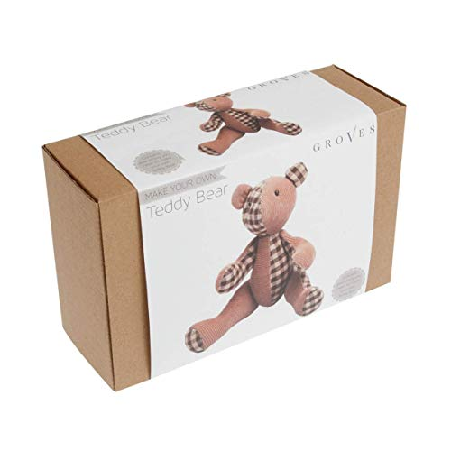 (Groves Sewing kit - Teddy Bear - Brown - Complete Sewing kit)