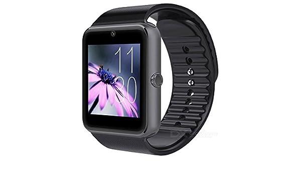 eastor GT08 1.54 inch SIM Bluetooth reloj inteligente para Android IOS - negro: Amazon.es: Electrónica
