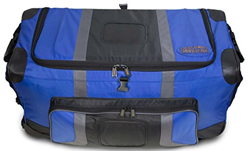 Pop Up Soft Trunk for Camp | Rolling Travel Duffle Bag | #CN-PUST3 | 30 x 14.5 x 15.5 Inches (Blue)