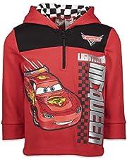 Disney Cars Lightning McQueen Boys Fleece Half Zip Pullover Hoodie