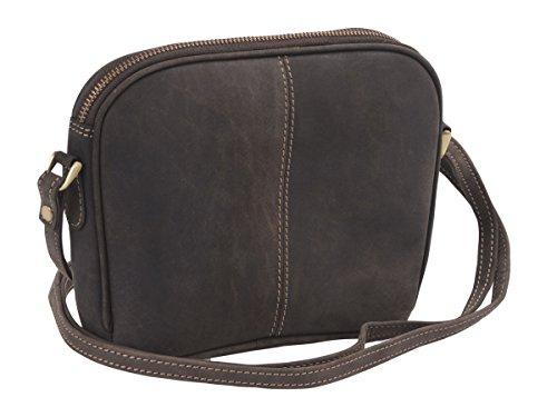 Borsa da donna AVANCO Vera Pelle, marrone scuro 15,5x18x6,5cm