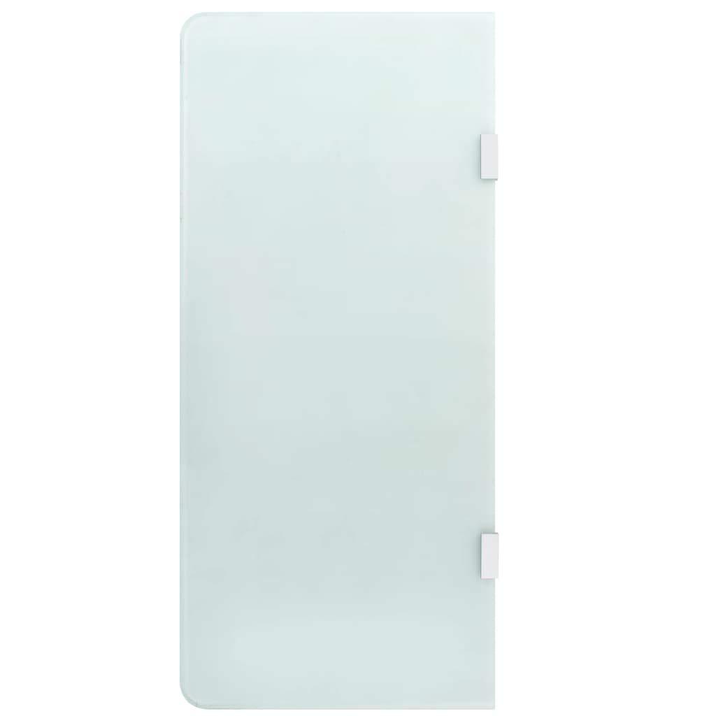 vidaXL Brise-vue pour Urinoir Mural S/éparateur de Toilette Ecran dIntimit/é Plaques dIntimit/é Salle de Bain Maison Int/érieur 90x40 cm Verre Tremp/é