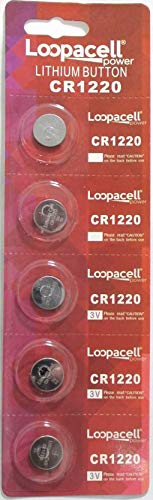 (5 Loopacell Button Cell REMOTE FOB KEY KEYLESS CR1220 Batteries)