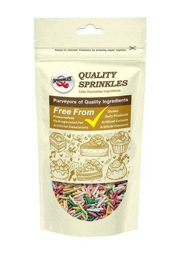 Natural Rainbow tuercas leche de soja Gluten OMG libre Shimmer - Sprinkles Bulk Pack: Amazon.es: Hogar