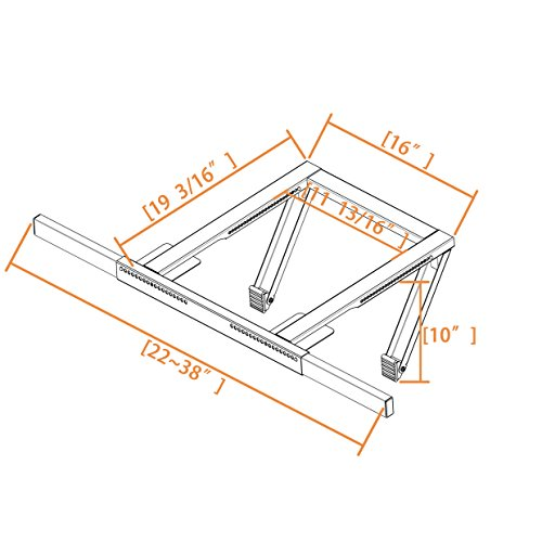 Jeacent AC Window Air Conditioner Support Bracket No Drilling by Jeacent (Image #4)