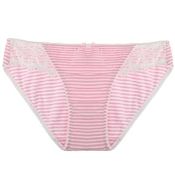 Rey&Qing Las Mujeres Jóvenes Pantalones De Ropa Interior De Algodón Algodón Underwear Briefs El Tamaño De