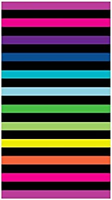 Toalla playa 100% algodon egipcio (rayas horizontales multicolor ...