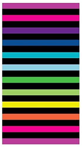 Toalla playa 100% algodon egipcio (rayas horizontales multicolor) (160 x 180 CM): Amazon.es: Hogar