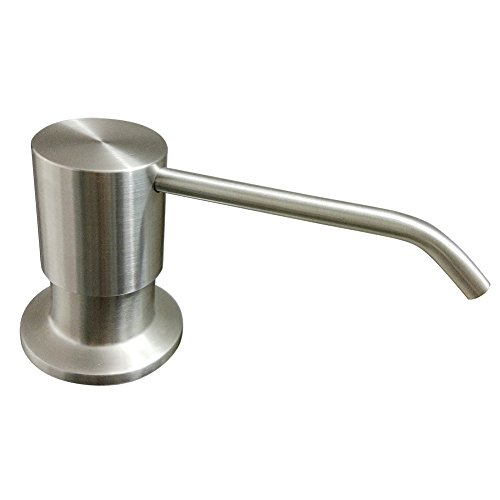 built in sink soap dispenser top refill stainless steel pump import it all