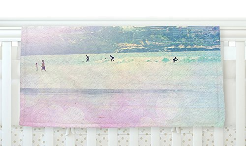 KESS InHouse Sylvia Coomes Rainbow I Multicolor Yellow Fleece Baby Blanket 40 x 30 [並行輸入品]   B0785RBJZL