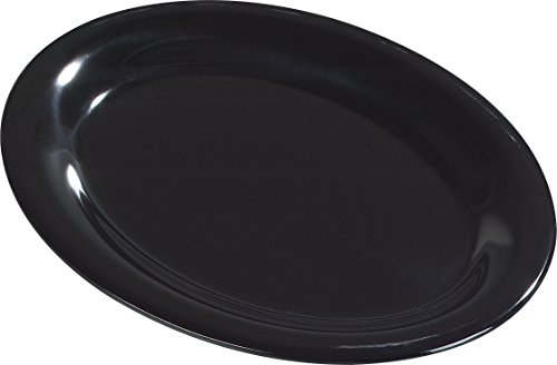 Carlisle 4308603 Durus Melamine Oval Serving / Dinner Platter, 9.5'' x 7.25'', Black (Pack of 24) by Carlisle (Image #3)