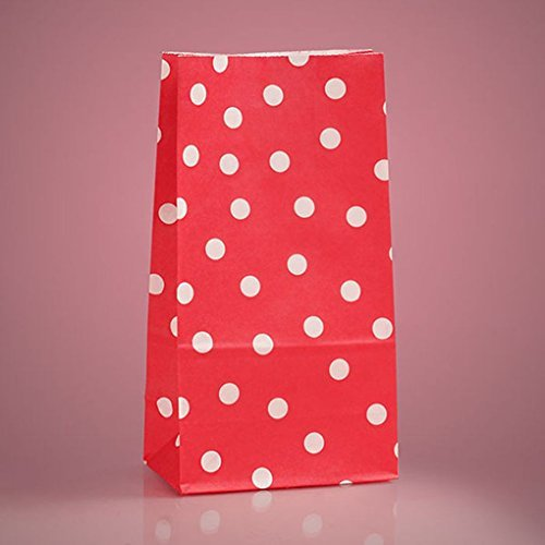 [Mememall Fashion 5 x 9.5 Inches Polka Dot Paper Favor Spotted Party Bags Treat Candy Buffet Lot] (Party City Halloween Costumes Little Red Riding Hood)
