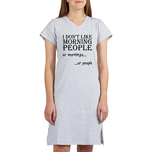 CafePress - Dont Like Morning People - Women's Nightshirt, Soft Long Pajama Shirt, Cotton PJs / (Mornings Nightshirt)