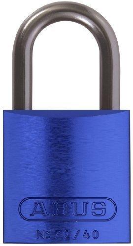 ABUS 72/40 KA Safety Lockout Aluminum Keyed Alike Padlock with 1-Inch shackle, Blue by ABUS