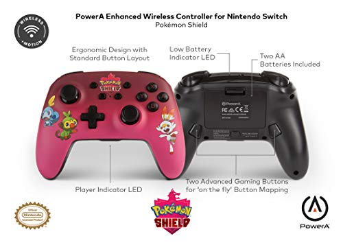 Enhanced Wireless Controller For Nintendo Switch - Pokemon Shield (Nintendo Switch)