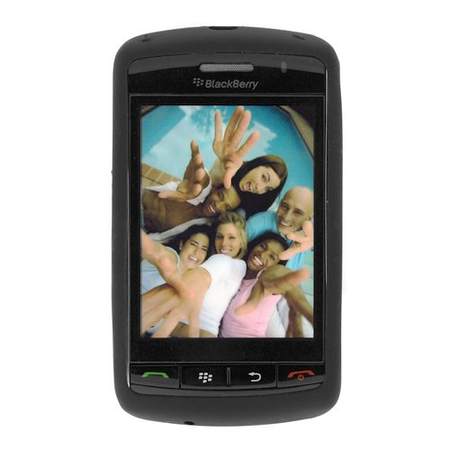 Rubber 9530 - Rubber Case for BlackBerry Storm 9530 - Black